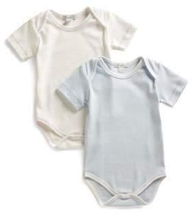 Kissy Kissy Infant's Dot & Solid Bodysuit Two-Pack