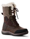 Lands' End Women's Avalanche Snow Boots-Black