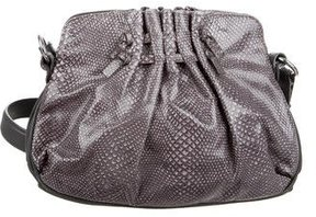 Marc Jacobs Embossed Leather Crossbody Bag - GREY - STYLE