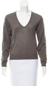 Dries Van Noten Alpaca-Silk V-Neck Sweater