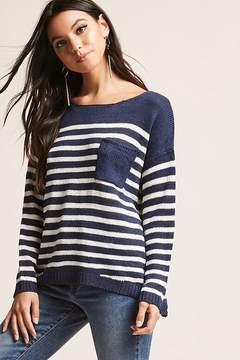 Forever 21 Open-Knit Stripe Sweater