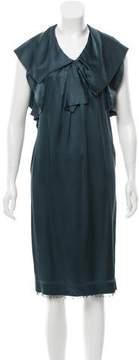 Aquilano Rimondi Aquilano.Rimondi Draped Silk Dress