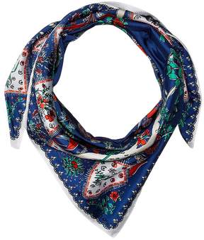 Echo Coral Sea Silk Square Scarf Scarves