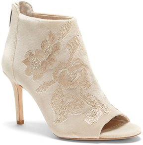Imagine by Vince Camuto Padget Velvet Embroidered Peep Toe Booties