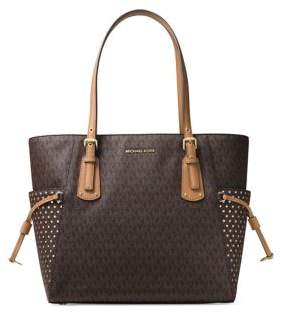 MICHAEL Michael Kors Voyager Signature Tote - BROWN - STYLE