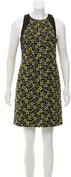 Carmen Marc Valvo Floral Embroidered Mini Dress