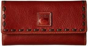 Dooney & Bourke Florentine Checkbook Organizer Checkbook Wallet - GINGER/SELF TRIM - STYLE