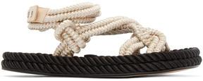 Isabel Marant Ecru Lou Twisted Rope Sandals