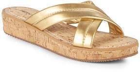 Bernardo Women's Crisscross Leather Wedge Sandals