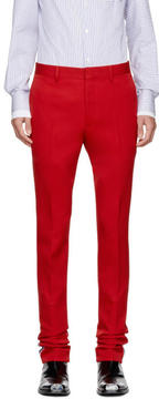 Calvin Klein Red Marching Band Trousers