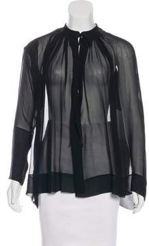 Tom Ford Silk Pleated Blouse
