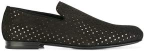 Jimmy Choo Sloane star perforated loafers