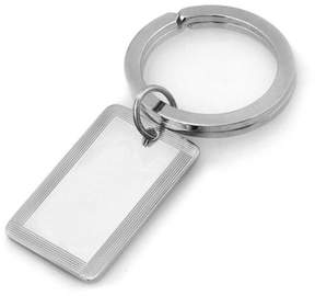 Zales Men's Rectangular Key Chain in Sterling Silver (3 Initials)
