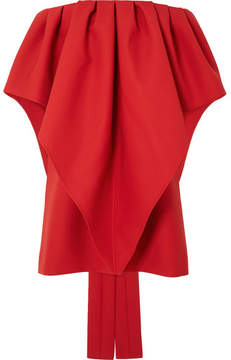 Valentino Off-the-shoulder Wool-cady Mini Dress - Red