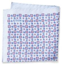 Eton Floral Raw-Silk Pocket Square