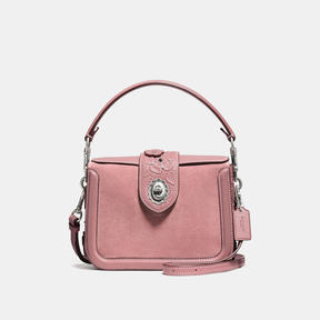 COACH Coach Page Crossbody With Tea Rose Tooling - LIGHT ANTIQUE NICKEL/DUSTY ROSE - STYLE