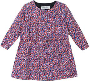 Jean Bourget Printed Buttoned Dress