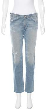 Adriano Goldschmied Low-Rise Distressed Jeans