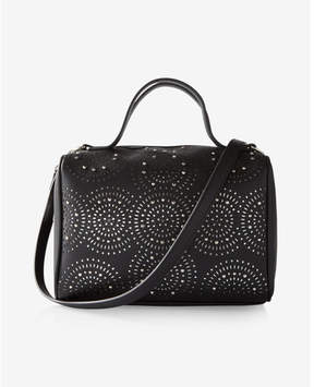 Express Perforated Studded Barrel Satchel