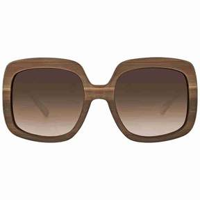 Michael Kors Harbor Mist Brown Smoke Gradient Square Sunglasses