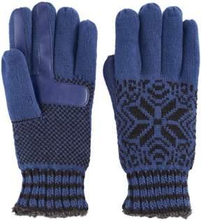 Isotoner Women's Snowflake Knit smarTouch smartDRI Tech Gloves