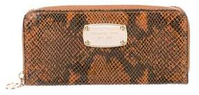 MICHAEL Michael Kors Embossed Continental Wallet