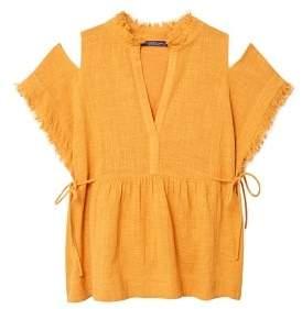Violeta BY MANGO Frayed blouse