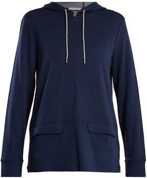 Falke Half-zip jersey hooded sweatshirt
