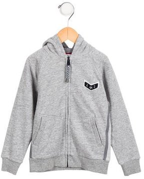 Little Marc Jacobs Boys' Logo Embroidered Hoodie