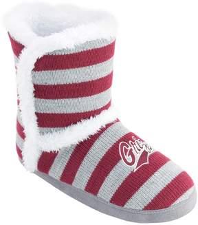 NCAA Women's Montana Grizzlies Striped Boot Slippers