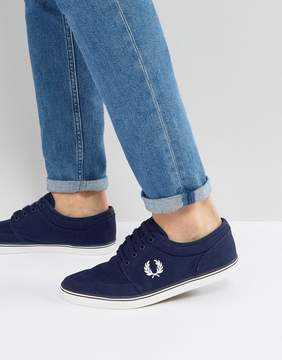 Fred Perry Stratford Canvas Sneakers in Blue