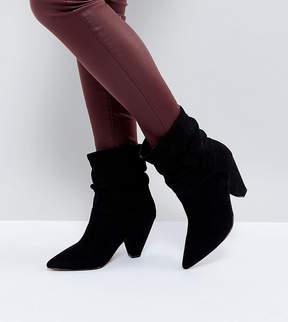 Asos REEVES Wide Fit Slouch Heeled Ankle Boots