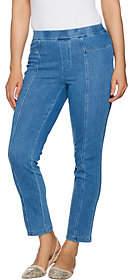 Isaac Mizrahi Live! Regular Knit Denim Pull-OnAnkle Jeans