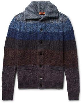 Missoni Striped Mélange Wool-Blend Cardigan