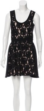 Jay Godfrey Floral-Embroidered Mini Dress