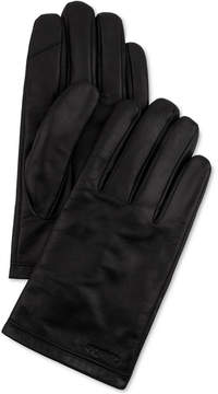 Calvin Klein Men's Cuff Point Leather Gloves