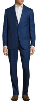 Isaia Regular-Fit Striped Wool Suit