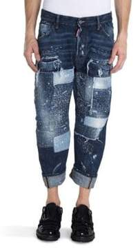 Viktor & Rolf Distressed Patch Jeans