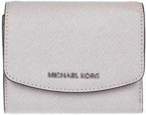 Michael Kors Logo Plaque French Wallet - PEARL GREY - STYLE