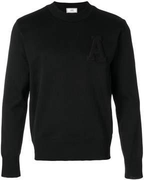 Ami Alexandre Mattiussi crewneck A patch sweater