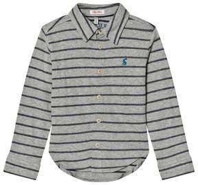 Joules Grey Stripe Jersey Shirt
