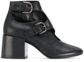 MM6 MAISON MARGIELA buckled block heel ankle boots