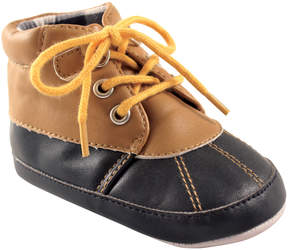 Luvable Friends Tan & Navy Duck Boot - Boys