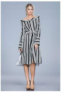 Ark & Co Stepping Out In Stripes Dress