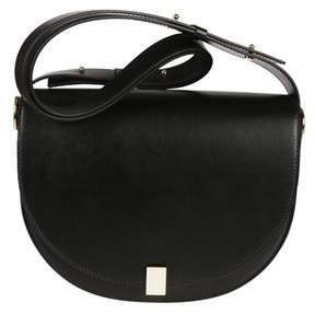 Victoria Beckham Women's Vab130aw17black Black Leather Shoulder Bag.