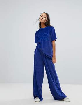 Ellesse Wide Leg Trackpant Co-Ord In Velour