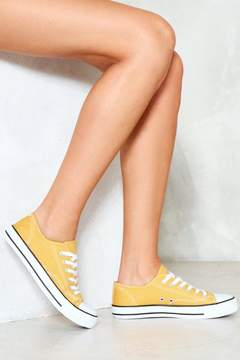 Nasty Gal What's the Low Down Low-Top Sneaker