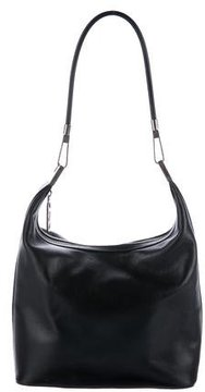 Gucci Leather Zip Hobo - BLACK - STYLE
