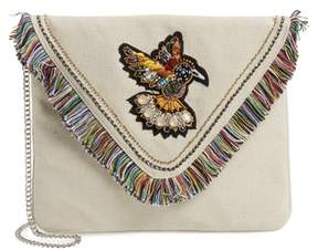 Steve Madden Bird Applique Oversize Envelope Clutch