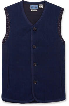 Blue Blue Japan Indigo-Dyed Cotton-Dobby Vest